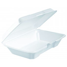 Envase Foam LunchBox Blanco 230x150X65mm (100 Uds)