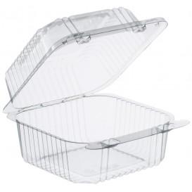 """Envase Plástico OPS """"StayLock"""" Bisagra Transp. 553ml (125 Uds)"""