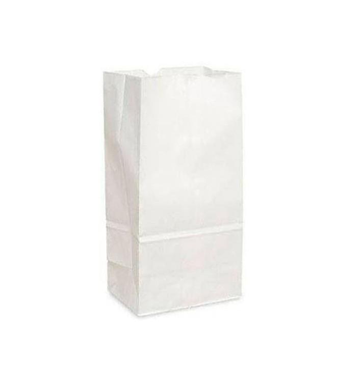 Bolsa de Papel Sin Asas Kraft Blanca 15+9x28cm (25 Uds)