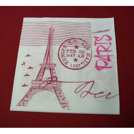 "Servilleta Papel ""Paris"" Punta- Punta 40x40cm (50 Uds)"