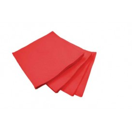 Servilleta de Papel Micropunto 20x20cm 2C Roja (100 Uds)