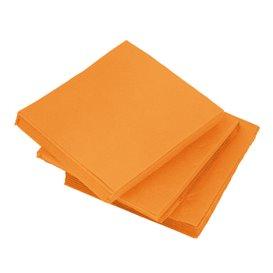 Servilleta de Papel Micropunto 20x20cm 2C Naranja (100 Uds)