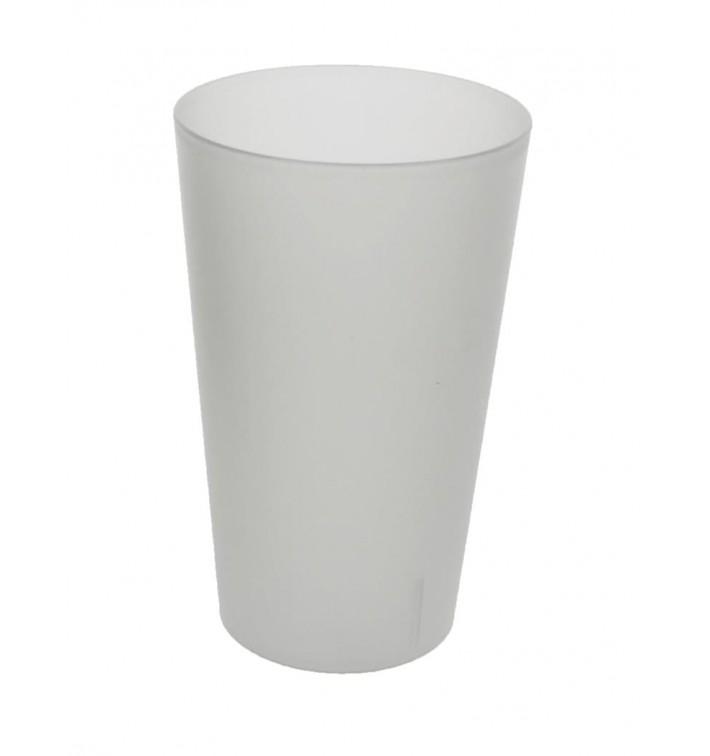 Vaso Reutilizable de Plástico PP Translúcido 330ml (16 Uds)