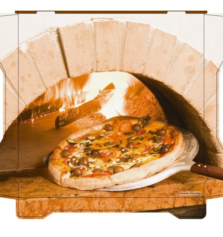 Cajas para Pizza Al Bassanello Forno 40x40x4,2 cm (100 Uds)