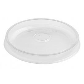Tapa Plana de Plástico PP Translúcido Ø9,1cm (50 Uds)