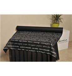 "Mantel Rollo Novotex Negro ""Buen Provecho"" 1,2x50m P40cm (1 Ud)"