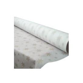 """Mantel Rollo Novotex Blanco """"Estrellas"""" 1,2x50m P40cm (1 Ud)"""