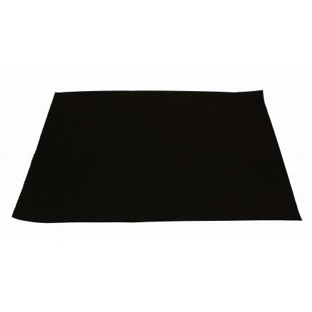Mantel Individual de Papel 30x40cm Negro 40g (1.000 Uds)