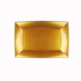 Bandeja Plastico Oro Nice PP 280x190mm (240 Uds)