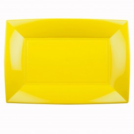 Bandeja Plastico Amarillo Nice PP 345x230mm (6 Uds)