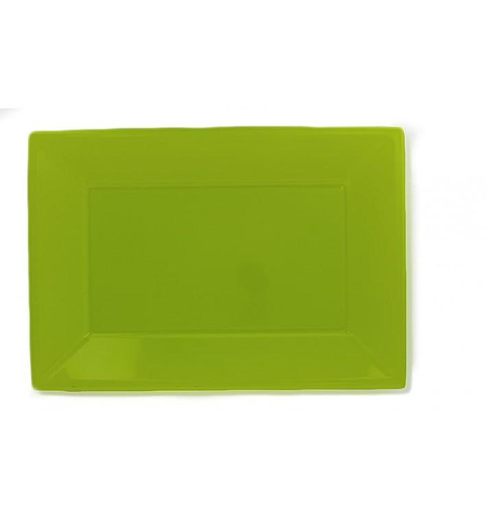 Bandeja de Plastico Pistacho 330x225mm (3 Uds)