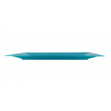 Bandeja de Plastico Turquesa 330x225mm (3 Uds)