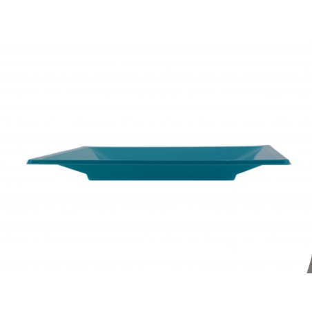 Plato de Plastico Llano Cuadrado Turquesa 170mm (25 Uds )