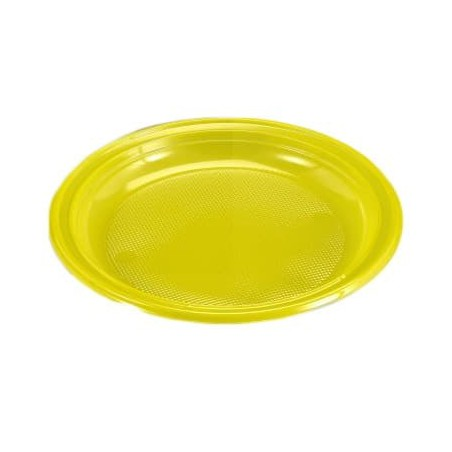 Plato de Plastico Amarillo