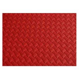 Mantel de Papel Cortado 1x1 Metro Rojo 40g (400 Uds)