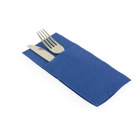 Servilleta Portacubiertos de Papel Azul 40x40cm (30 Uds)