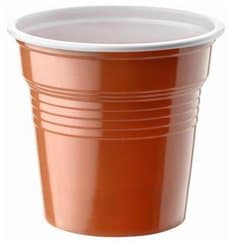 Vaso de Plastico PS Bicolor Marrón 80ml Ø5,7cm (50 Uds)