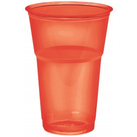 "Vaso ""Diamant"" PS Cristal Rojo 250ml Ø7,2cm (10 Uds)"