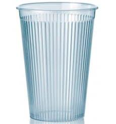 """Vaso """"Ribbed"""" PS Transparente 200 ml (25 Unidades)"""