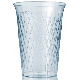 Vaso Inyectado Rombos PS 200 ml (50 Uds)
