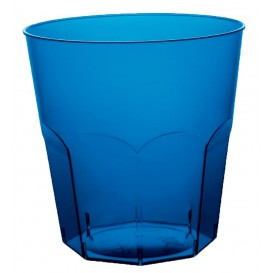 Vaso Plastico Azul Transp. PS Ø73mm 220ml (50 Uds)