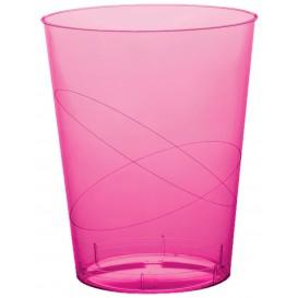 Vaso de Plastico Moon Fucsia Transp. PS 350ml (20 Uds)