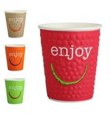 "Vaso Cartón 12 Oz/360ml ""Enjoy"" Ø9,0cm (34 Uds)"