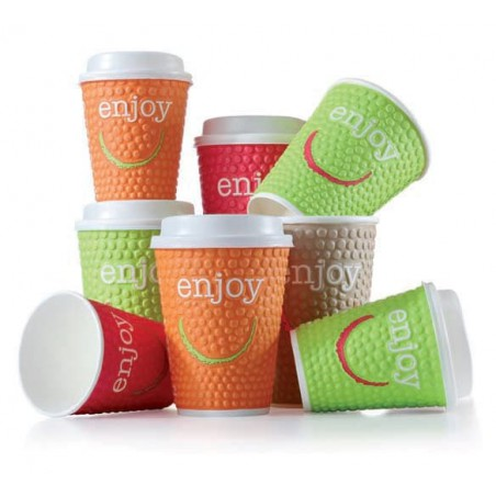 "Vaso Cartón 16 Oz/495ml ""Enjoy"" Ø9,0cm (28 Uds)"
