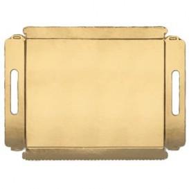 Bandeja Carton Rectangular Oro Asas 22x28cm (100 Uds)