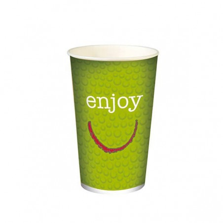 "Vaso Cartón 12 Oz/360 ml ""Enjoy"" Ø8,0cm (100 Uds)"