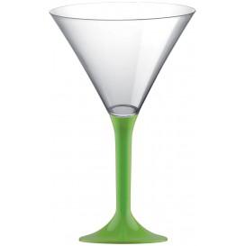 Copa Plastico Cocktail Pie Verde Lima 185ml 2P (200 Uds)