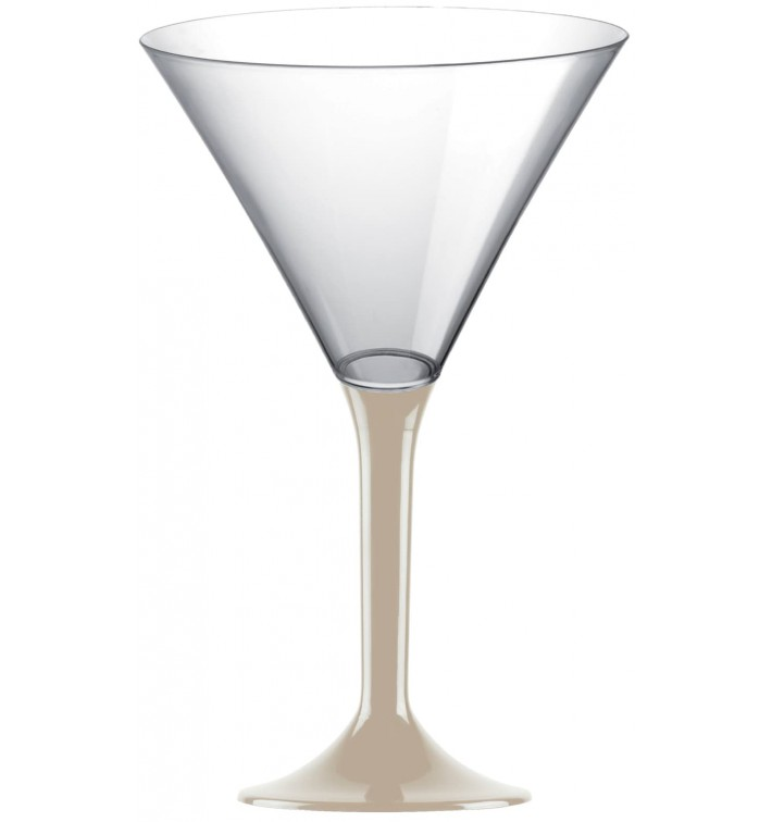 Copa Plastico Cocktail Pie Beige 185ml 2P (20 Uds)