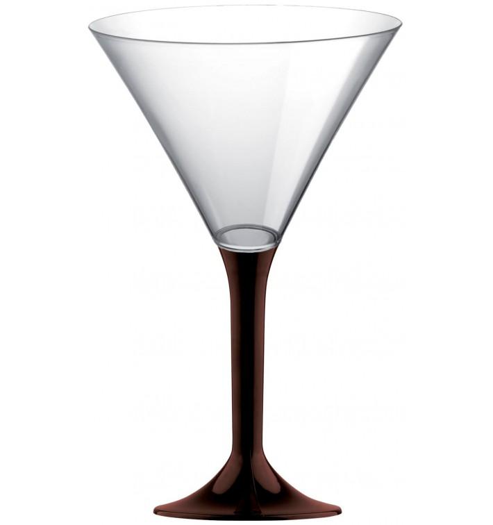 Copa Plastico Cocktail Pie Marron 185ml 2P (20 Uds)