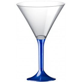 Copa Plastico Cocktail Pie Azul Perlado 185ml 2P (20 Uds)