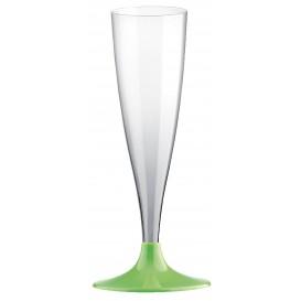 Copa Plastico Cava Pie Verde Lima 140ml 2P (400 Uds)