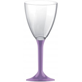 Copa de Plastico Vino con Pie Lila 160ml (200 Uds)