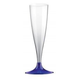 Copa Plastico Cava Pie Azul 140ml 2P (20 Uds)