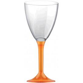 Copa Plastico Vino Pie Naranja Transp. 180ml 2P (20 Uds)