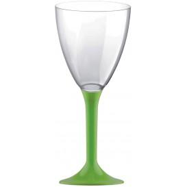 Copa Plastico Vino Pie Verde Lima 180ml 2P (200 Uds)