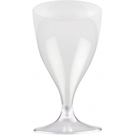 Copa Plastico Vino Pie Transparente 200ml 2P (20 Uds)