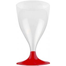 Copa Plastico Vino Pie Burdeos 200ml 2P (400 Uds)