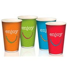 "Vaso Cartón 16 Oz/500 ml ""Enjoy"" Ø9,0cm (50 Uds)"