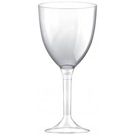 Copa Plastico Vino Pie Transparente 300ml 2P (20 Uds)