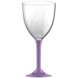 Copa de Plastico Vino con Pie Lila 300ml (20 Uds)