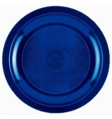 Plato de Plastico Llano Azul Round PP Ø185mm (50 Uds)