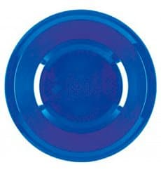 Plato de Plastico Hondo Azul Mediterraneo Round PP Ø195mm (50 Uds)