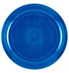 Plato de Plastico Azul Mediterraneo Round PP Ø290mm (25 Uds)