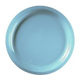 Plato de Plastico Turquesa Round PP Ø290mm (25 Uds)