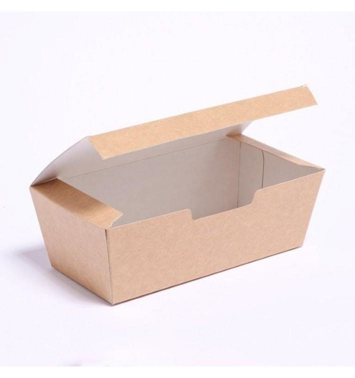 Caja Comida para Llevar Kraft 16,5x7,5x6cm (25 Uds)