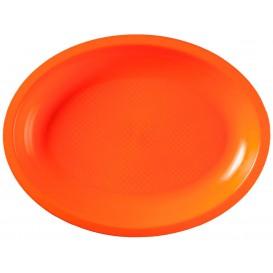 Bandeja Ovalada Naranja Round PP 315x220mm (25 Uds)